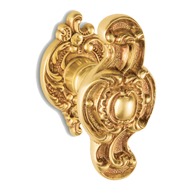 LISBONA Door Knob on rose with escutcheon - Gold Finish