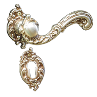 SAMARRA Door Lever Handle on rose - Mat