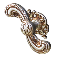 SAMARRA Door Knob on rose with escutcheon - Matt Silver/Old Gold Finish
