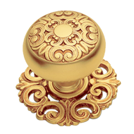 MOSACCIO Door Knob with rose - Gold Finish