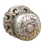 MOSACCIO Door Knob with Rose - Matt Silver/Old Gold Finish