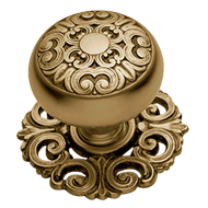 MOSACCIO Door Knob with rose - Bronze Finish