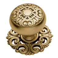 MOSACCIO Door Knob with Rose - Satin Antique Bronze Finish
