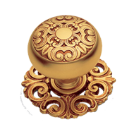 MOSACCIO Door Knob with Rose - Gold/Old Gold Finish