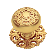 MOSACCIO Cabinet Knob with Rose - Gold