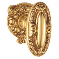 VIENNA Door Knob with Rose and escutcheon - Gold Finish