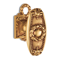 ORLEANS Door Knob on rose wit