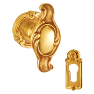 BEIRUT Door Knob with Rose - Gold Finish