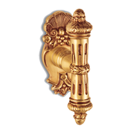 URBINO Door knob on rose with escutcheon - Old Gold Finish