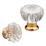 Arianna Glass Cabinet Knob - Gold Finish