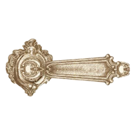 Verona Door Lever Handle on Rose - Anti