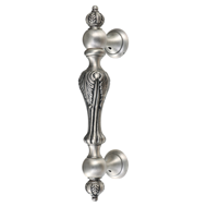Sanremo Door Pull Handle - Silver Finish - CC 200m - Overall 312mm