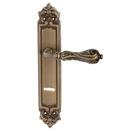 Luxor Lever Handle on Plate Yester Bron