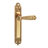 Orleans Lever Handle on Plate in Polish