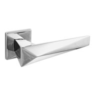 ZEIT Lever Handle on Rose - Satin Chrom