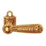 ORLEANS Door Lever Handle on rose - Old