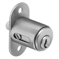 Push Lock for Sliding Doors - 20mm - Satin Nickel