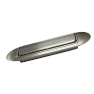 Cabinet Flush Handle - Stainless Steel