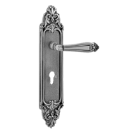 Lever handle on Plate - Satin Black Pea