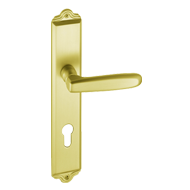 Lever Handle on Plate - Gold Finish