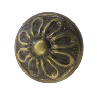 Round Furniture Carving - 1.5 Inch - Antique Bronze Finish
