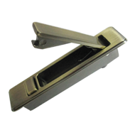 Cabinet Flush Handle in Antique Brass Finish