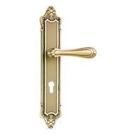 Door Lever Handle with key hole - Gold