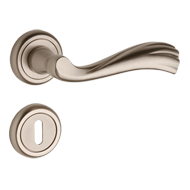 Door Lever Handle on rose with key hole