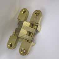 Concealed Hinge - 90X20mm - Gold Plated