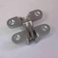 Concealed Hinge - 45X12mm - Silver Fini