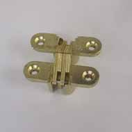 Concealed Hinge - 45X10mm - Gold Plated