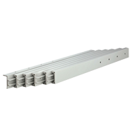 Unidirectional multiple extension slide aluminium - 300mm - Overall Extension Length
