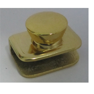 Glass Knob Without Hole - 6mm - Gold Fi
