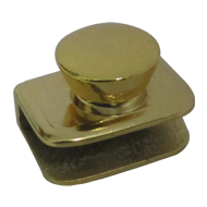 Glass Knob Without Hole - 8mm - Gold Fi