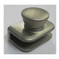 Glass Knob Without Hole - 8mm - Silver
