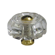 Crystal Cabinet Knob - Crystal/Gold Finish - Size : 30mm
