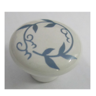 Cabinet Knob - White/Blue Colour - 35mm