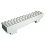 Waves Furniture Handle -  Bright White Ceramic - CC 96mm