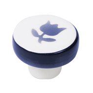 Furniture Knob - Porcelain Tu