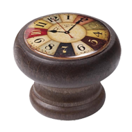 Wood Coloured Clock Knob