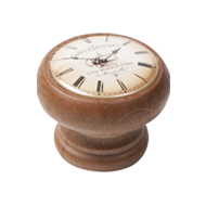 Clock design Wooden Furniture Knob in H