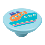 Kids Boat Light Blue Knob