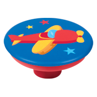 Red Aeroplane Kids Knob