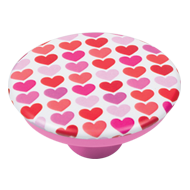 Hearts Design Pink Colour Knob