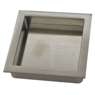 Flush Cabinet Handle - 76mm - Satin Nickel Plated Finish