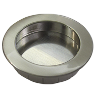 Flush Cabinet Knob - 50mm - Bright Chro