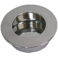 Flush Cabinet Knob - 70mm - Satin Nickel Plated Finish