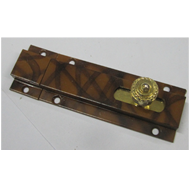 Baby Latch - Brown/Gold Finish - Size -