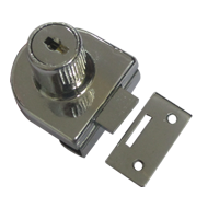 Single Glass Lock - 8mm - CP Finish