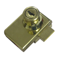 Double Glass Lock - 15mm - Gold Finish